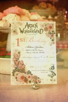 Alice in Wonderland themed party