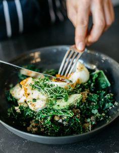 Warm Green Breakfast Bowl #healthy #breakfast #bowls https://greatist.com/eat/breakfast-bowls