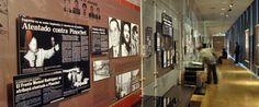 Museo de la Memoria y los Derechos Humanos de Chile, ubicado en Santiago de Chile, narra los hechos ocurridos entre el 11 de septiembre de 1973 y el 10 de marzo de 1990. En su colección permanente, las herramientas interactivas (pantallas de video y audios) son una excelente forma de entender con total claridad la historia durante la Dictadura de Pinochet. Por ser hechos trágicos, el contenido expuesto, reforzado con éstas herramientas, puede llegar a ser muy real y crudo.