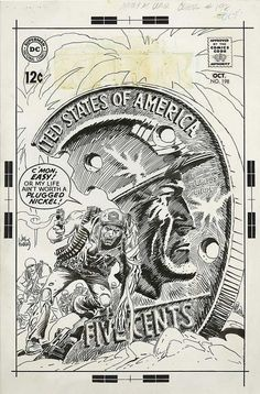 Nuestro ejército en la guerra # 198 - Joe Kubert Comic Art