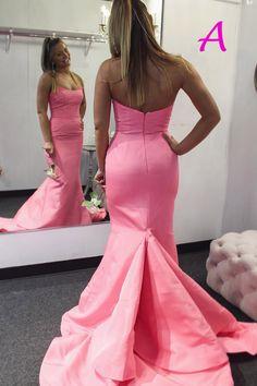 Strapless Mermaid Zipper Up Long Prom Dress - - gorgeous strapless mermaid pink graduation dress, long prom dress 2019 Source by grahamjarviis Best Formal Dresses, Prom Dresses Long Pink, Prom Dresses Two Piece, Long Sleeve Evening Dresses, Elegant Prom Dresses, Prom Dresses Long With Sleeves, Dresses For Teens, Dress Long, Prom Gowns