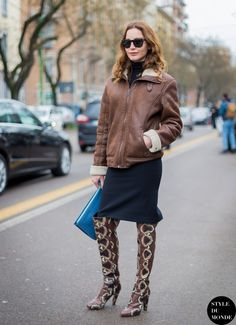 snake 2017 print boots with winter 2017 outfit