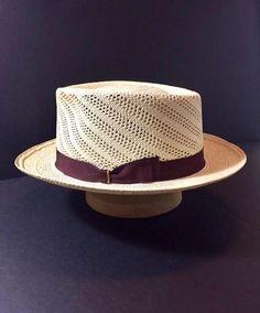 Panama Hat New Custom Made Semi Calado Straw Hat Fedora Size 7 Cuban Hat ea9f76c02493