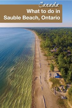 Sauble Beach is one of the best beaches for a family getaway in Ontario, Canada. It is the second longest freshwater beach in the world. Travel in Canada. Beaches In Ontario, Vancouver, Ontario Travel, Ontario Camping, Toronto, Visit Canada, Beach Trip, Beach Travel, Hawaii Beach