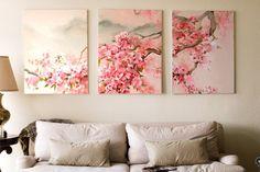 cuadros-modernos-al-oleo-flores-cerezo-chino-pintura-327701-MLM20375954330_082015-F.jpg (1080×720)