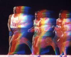 Runner Steve Prefontaine at the 1972 Olympic trials in Eugene, Oregon. Photo: John G. Zimmerman