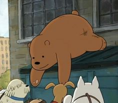 Cartoon Shows, Cute Cartoon, Bear Pictures, Cute Pictures, We Bare Bears Wallpapers, 3 Bears, Bear Wallpaper, Brown Aesthetic, Reaction Pictures