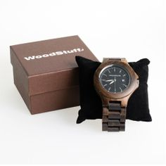 WoodStuff Houten Horloge Black Walnut