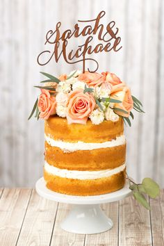 Gorgeous custom cake topper