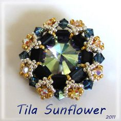 TILA SunFlower pendant  Exclusively Pdf Beading by bead4me on Etsy, $8.00