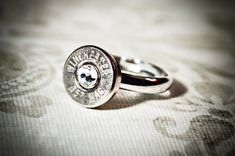 Gunpowder and Glitz Simplistic Nickel Plated Bullet Ring on Etsy, $20.00