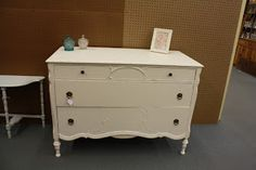 Gorgeous refinished antique furniture #antique #dresser #shabbychic #distressed #beautiful #cream