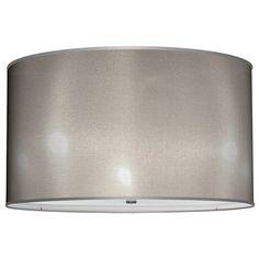 Seascape Lamps Drum Lamp Shade - Organza Silver Seascape ...