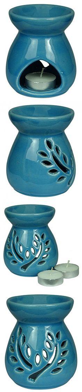 Aromatherapy Wax Tealight Ceramic Burner Fragrance Holder Oil Diffuser Warmer Home Decor Gift Set