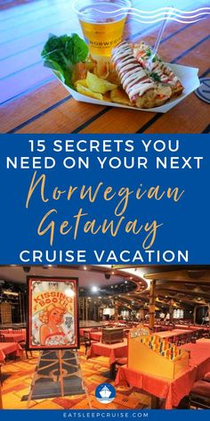 Do you have a cruise vacation planned on the Norwegian Getaway in the near future? Whether you are new to cruising or are an experienced cruiser and this is your first time to cruise on the Norwegian Getaway, you'll want to read this post for great travel tips and secrets. From how to get a spot on a private deck to Ice Bar discounts, and so much more. Check out our blog post for all the info on the cruise ship itself, rooms, the cabin, menus just to name a few. Cruise Excursions, Cruise Destinations, Shore Excursions, Cruise Checklist, Cruise Tips, Best Cruise, Cruise Vacation, Vacations, Cruise Ship Reviews