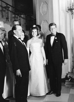 """Jackie looks adoringly at her """"intellectual crush"""" as coined by JFK, French Minister of Cultural Affairs and author of the the legendary book 'La Condition Humaine' Andre Malraux Jfk And Jackie Kennedy, Jaqueline Kennedy, Les Kennedy, Madison Square Garden, John Junior, John Fitzgerald, The Victim, Us Presidents, Nyc"""
