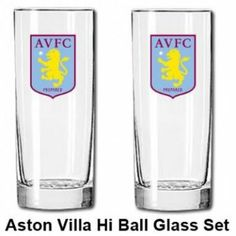 Aston Villa Glass Set by Aston Villa F.C.. $16.78. Your beer will definately taste better in this official Aston Villa set of glasses each of which has the Aston Villa club crest on the front. Now available for immediate delivery.Code: MUG168Aston Vil