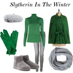 Slytherin In The Winter, created by nearlysamantha on Polyvore