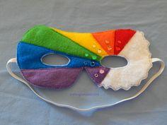 Rainbow superhero mask