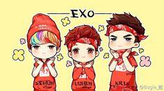 #EXO #Sehun #Luhan #Kris