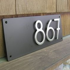 Contemporary House Numbers Design Ideas, Pictures, Remodel And Decor