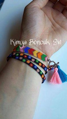 Beaded Braclets, Bead Loom Bracelets, Ankle Bracelets, Bead Loom Patterns, Peyote Patterns, Beading Patterns, Diy Jewelry, Beaded Jewelry, Bracelets