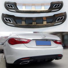 84.00$  Watch now - http://aliger.worldwells.pw/go.php?t=32675505022 - Fit For Hyundai SONATA 2011-2013 Rear Bumper Diffuser Bumpers Lip Protector Guard 84.00$