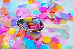 υ Confetti Cones, Paper Confetti, Bridal Shower, Baby Shower, Wedding Confetti, Tissue Paper, Little Pony, Bright Colors, Biodegradable Products