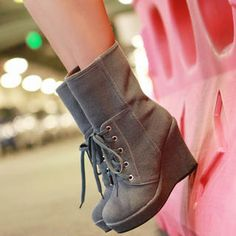 Wedge Boots #fashiondrop