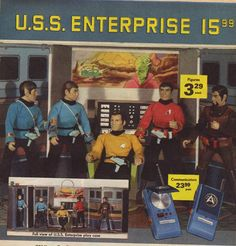 Star Trek Action Figures (1975)...I would have given anything to have this...