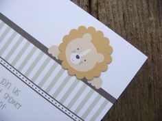 Little Lion Baby Shower Invitations by BackwoodDesignStudio, $17.50