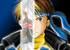 Flik with Odessa (Suikoden II) Drawn in 2006. Painted with Corel Draw.