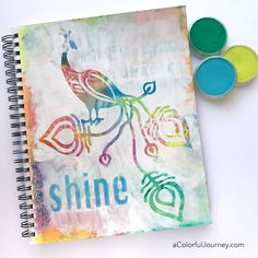 Art Journaling with PanPastels workshop with Carolyn Dube
