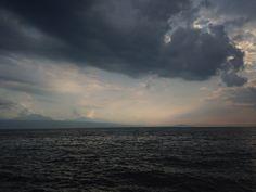 Atardecer de Julio en el lago Léman, Suiza