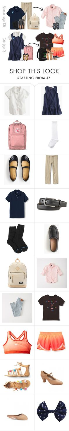 """School, Spencer Goes Out for Dinner With Friends, and Dance 6/13"" by teamboby ❤ liked on Polyvore featuring J.Crew, Fjällräven, Lands' End, Abercrombie & Fitch, NIKE and TeambobyFamily"