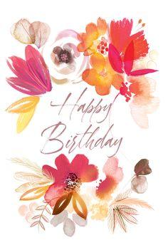 Happy Birthday Greetings Friends, Happy Birthday Flower, Happy Birthday Meme, Happy Birthday Pictures, Happy Birthday Greeting Card, Happy Birthday Messages, Birthday Fun, Birthday Quotes, Greeting Cards