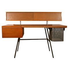 Home Office Desk by George Nelson   From a unique collection of antique and modern desks at https://www.1stdibs.com/furniture/storage-case-pieces/desks/