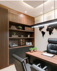 Projeto lindo!! Adorei a composição sala do advogado. Projeto Higor Zanelato Foto Fellipe Lima #advogado #sala #interiores