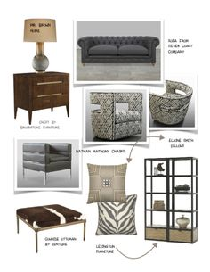 Gray and Brown Home Design Inspiration Board 2 | Interior Design ...