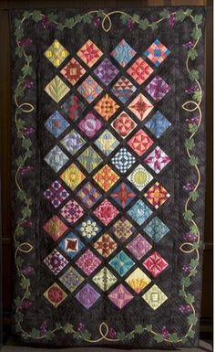 Carol Honderich's Women of the Bible Quilt. Teaching this Bible Study/Quilt class at Happiness is...Quilting in McKinney, Texas.
