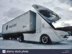 Stock Photo - Iveco experimental aerodynamic truck designed by Luigi Colarni. Colani Truck, Truck Design, Luigi, Trucks, Stock Photos, Vehicles, Cars, Autos, Truck