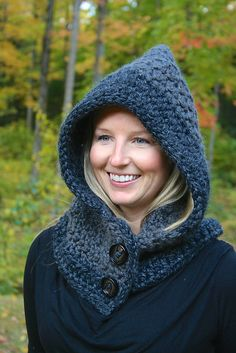 Ravelry: Cozy Hooded Cowl pattern by Dezarae Earl