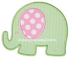 Baby Elephant Applique Design