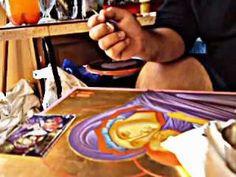 Byzantin Icons - YouTube Roman Church, Byzantine Icons, Orthodox Christianity, Religious Icons, Orthodox Icons, Painting Videos, Ursula, Madonna, Techno