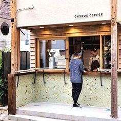 Coffee Shop Design Ideas - The plan is coffee-inspired. Brief and easy design is required while developing a logo. There's some amazing design out there, even in the easiest of spaces. It is a bare-bones design which has a small… Continue Reading → Coffee Shops, Small Coffee Shop, Coffee Shop Design, Coffee Cafe, Hot Coffee, Coffee Shop Japan, Coffee Barista, Coffee Menu, Coffee Girl