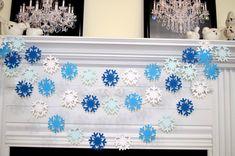 Blue White snowflake garland, Frozen snowflake theme decorations banner, Christmas snowflake garland, blue snowflake, baby boy/ winter decor Office Party Decorations, Office Christmas Decorations, Blue Christmas Decor, Class Decoration, Christmas Photos, Frozen Snowflake, Snowflake Garland, Snowflake Decorations, White Snowflake