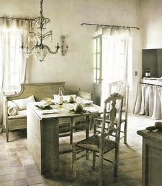 dining room kitchen-french-provencal-gustavian-settee-country-eclectic