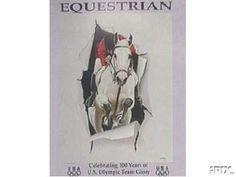 1996 Atlanta Equestrian Olympic Poster Artist He Datian New Mint Never Used Atlanta Olympics, Equestrian, Moose Art, Mint, Artist, Sports, Poster, Animals, Ebay