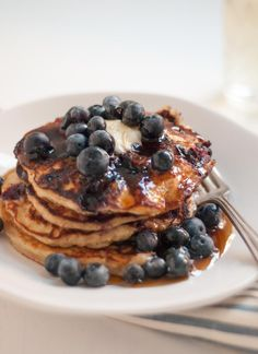 Sharing my favorite #glutenfree blueberry pancakes for National Blueberry Pancake Day (which is TODAY!). Pin brought to you by @DriscollsBerry. #BlueberryPancakeDay