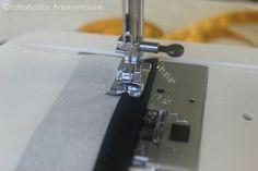 coser cojín forma de sobre